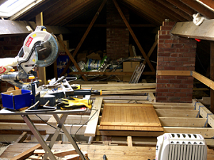 A diy loft conversion that went worryingly smoothly here you can see the new joists in place being supported by the load bearing wall in the middle as well as the newly created beam on the far right of the solutioingenieria Image collections