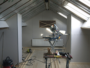 A diy loft conversion that went worryingly smoothly once the walls we fitted with the plasterboard we had to get a trained plasterer in to skim them which involves applying a thin 3mm layer of plaster to solutioingenieria Image collections