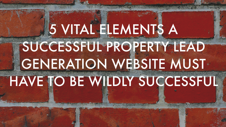 Property lead generation websites