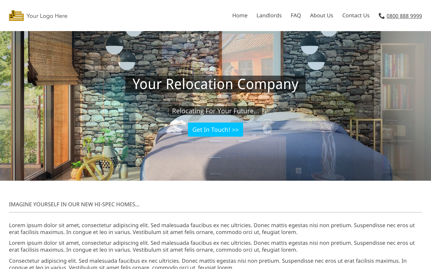 Rent to rent relocation company website theme