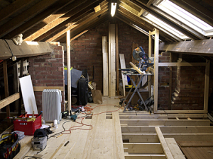 A diy loft conversion that went worryingly smoothly once we had the floorboards in place we were able to make a start on what would eventually become the walls this involved boxing off the various solutioingenieria Images